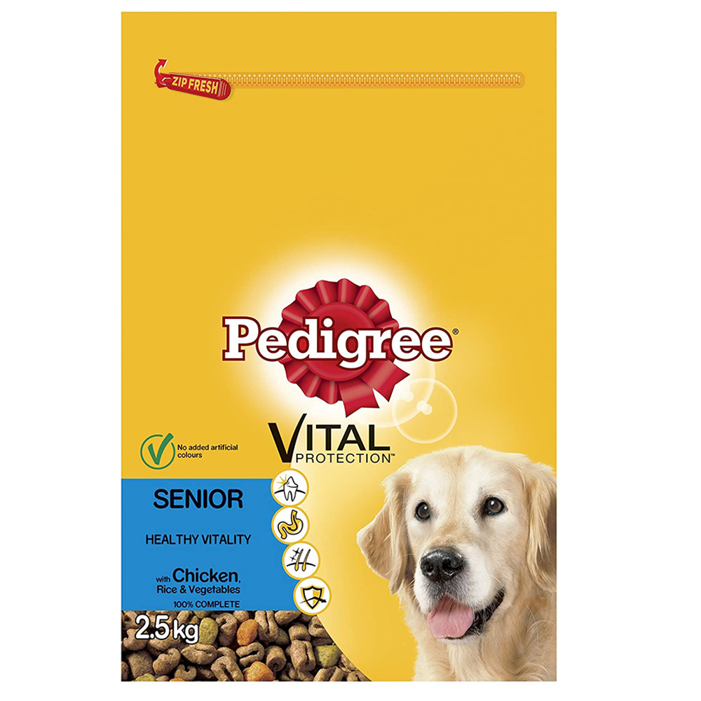 Picture of Pedigree Vital Protection Senior - Chicken, Rice & Vegetables 2.5kg (Case of 3)