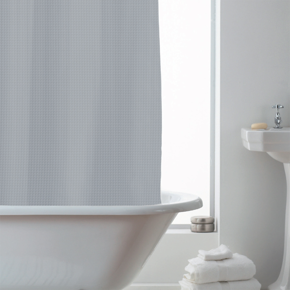 Picture of Waffle Shower Curtain: Grey