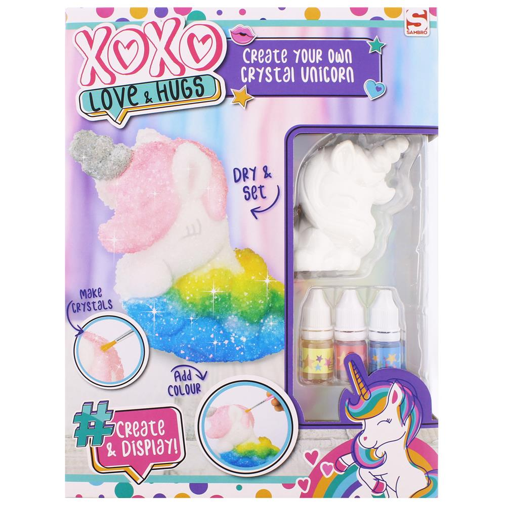 Picture of XOXO Love & Hugs Create Your Own Crystal Unicorn