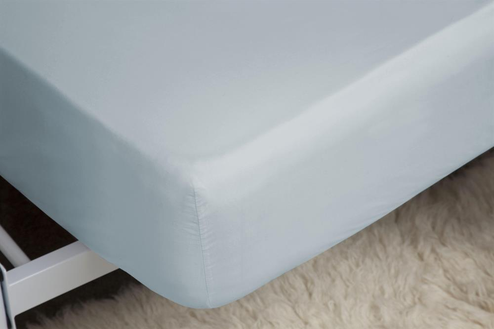 Picture of Belledorm Fitted Sheet: Duck Egg