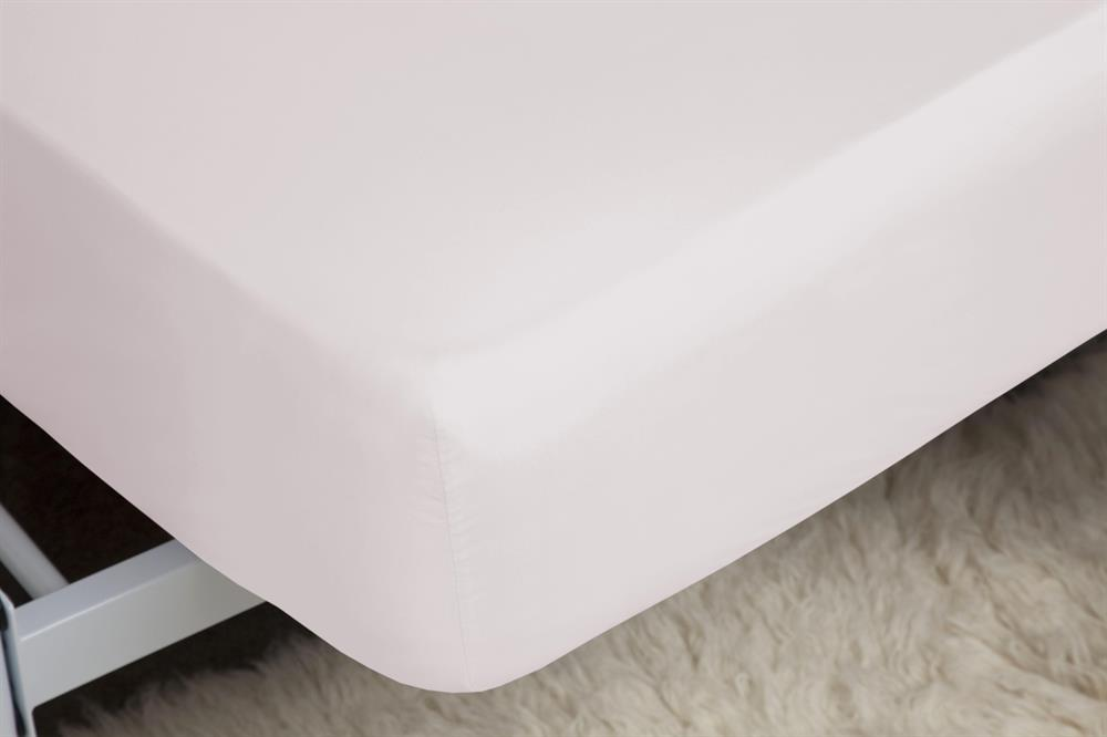 Picture of Belledorm Fitted Sheet: Powder Pink