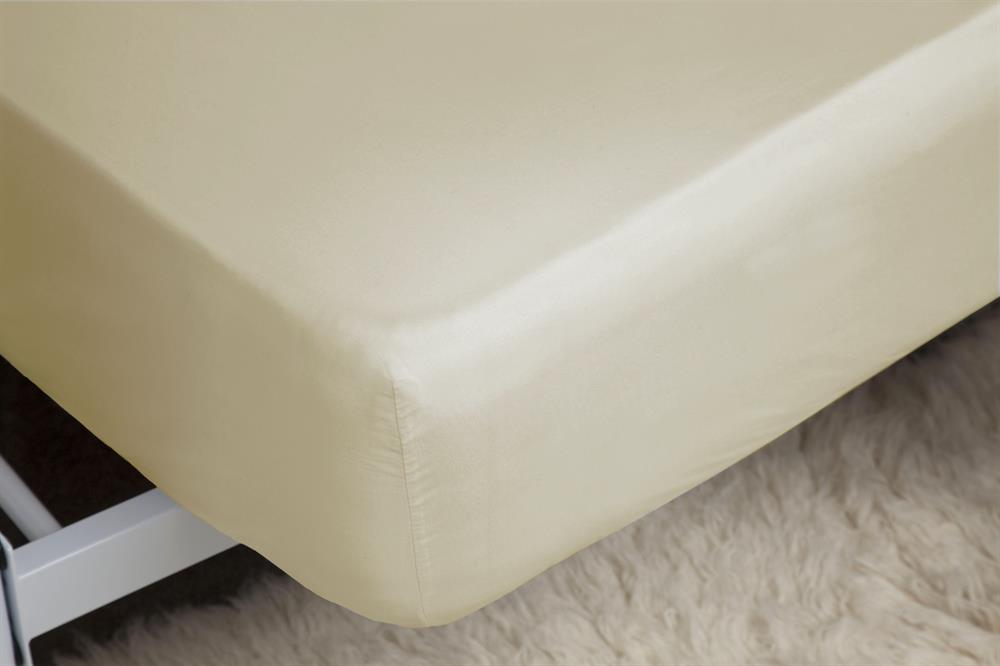 Picture of Belledorm Fitted Sheet: Cream