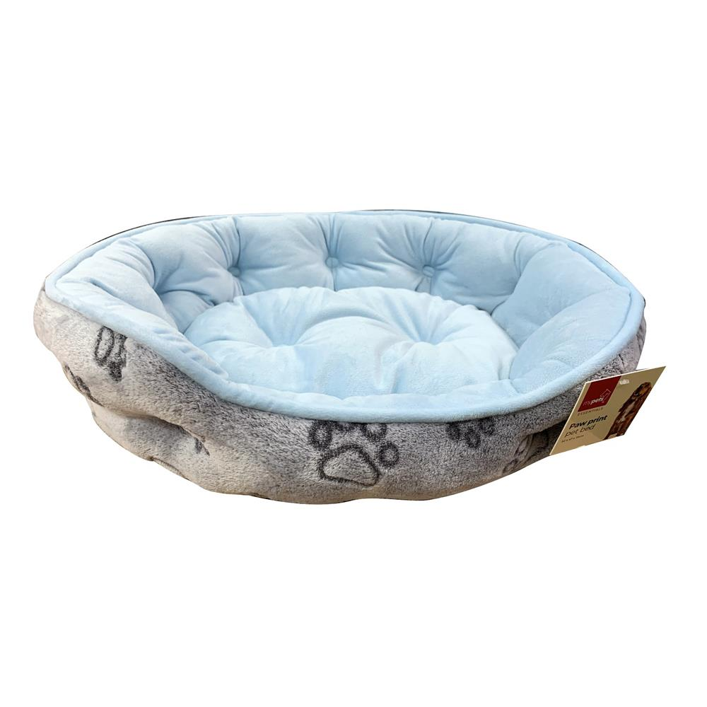 Picture of Paw Print Pet Bed - Blue