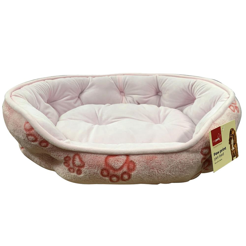Picture of Paw Print Pet Bed - Pink