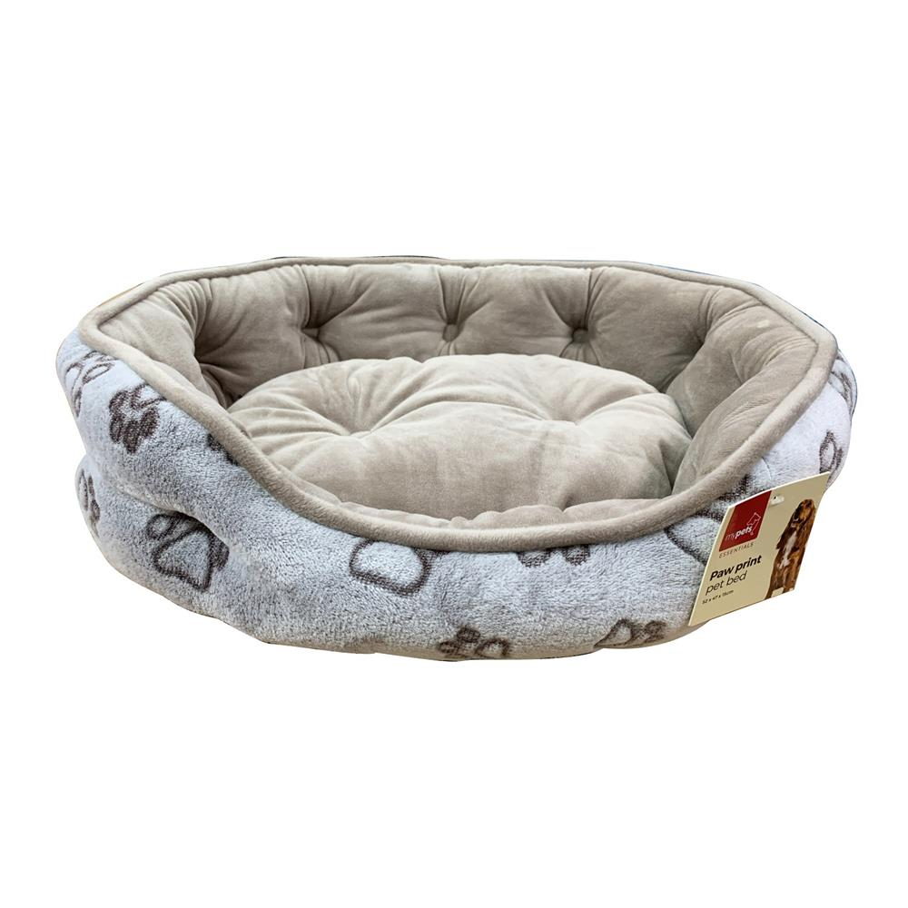 Picture of Paw Print Pet Bed - Beige