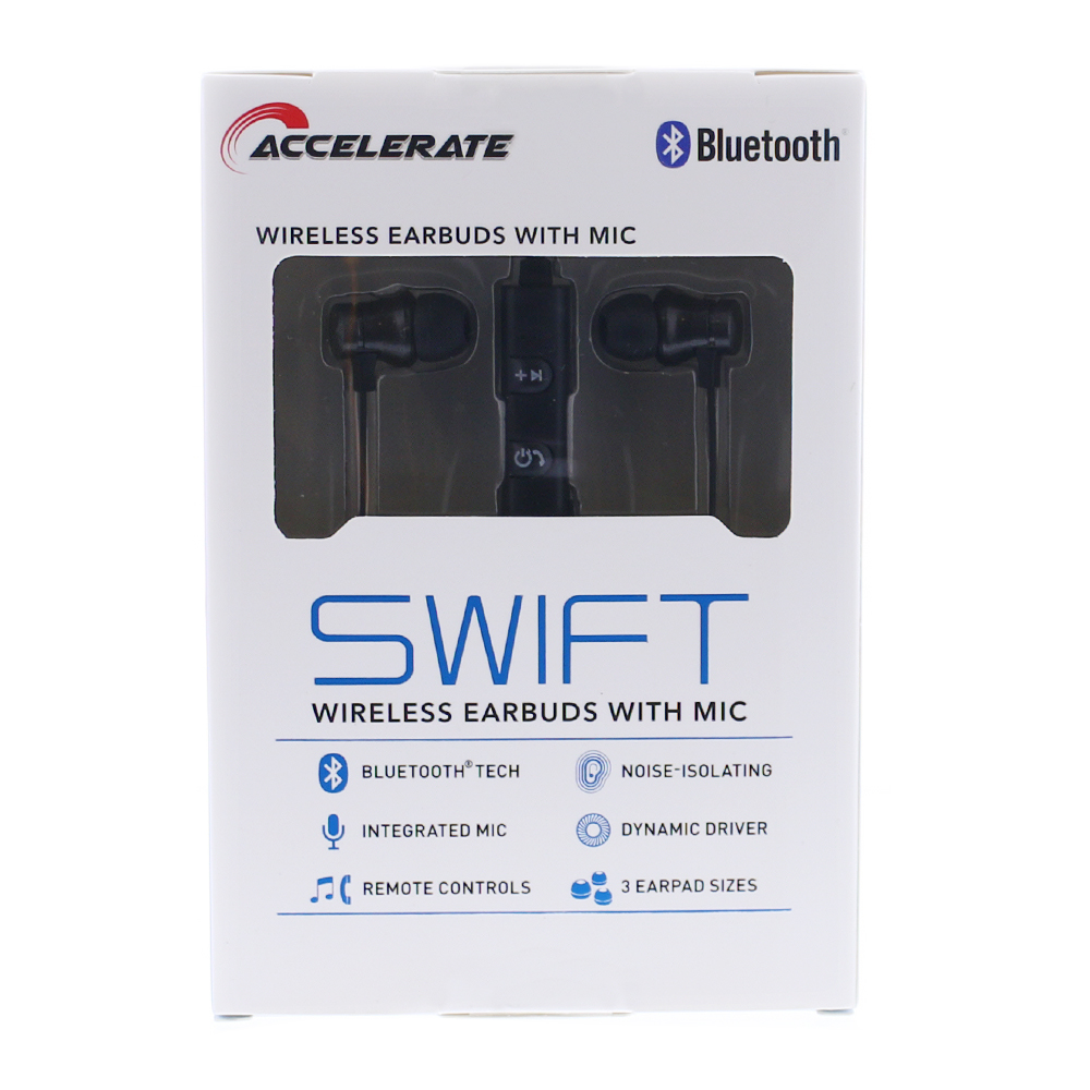 Picture of Accelerate Swift Wireless Earbuds - Black