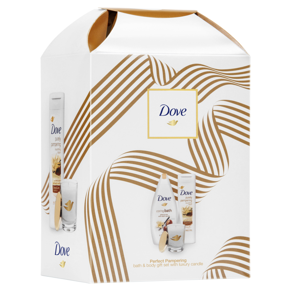 Picture of Dove Perfect Pampering Bath & Body Gift Set