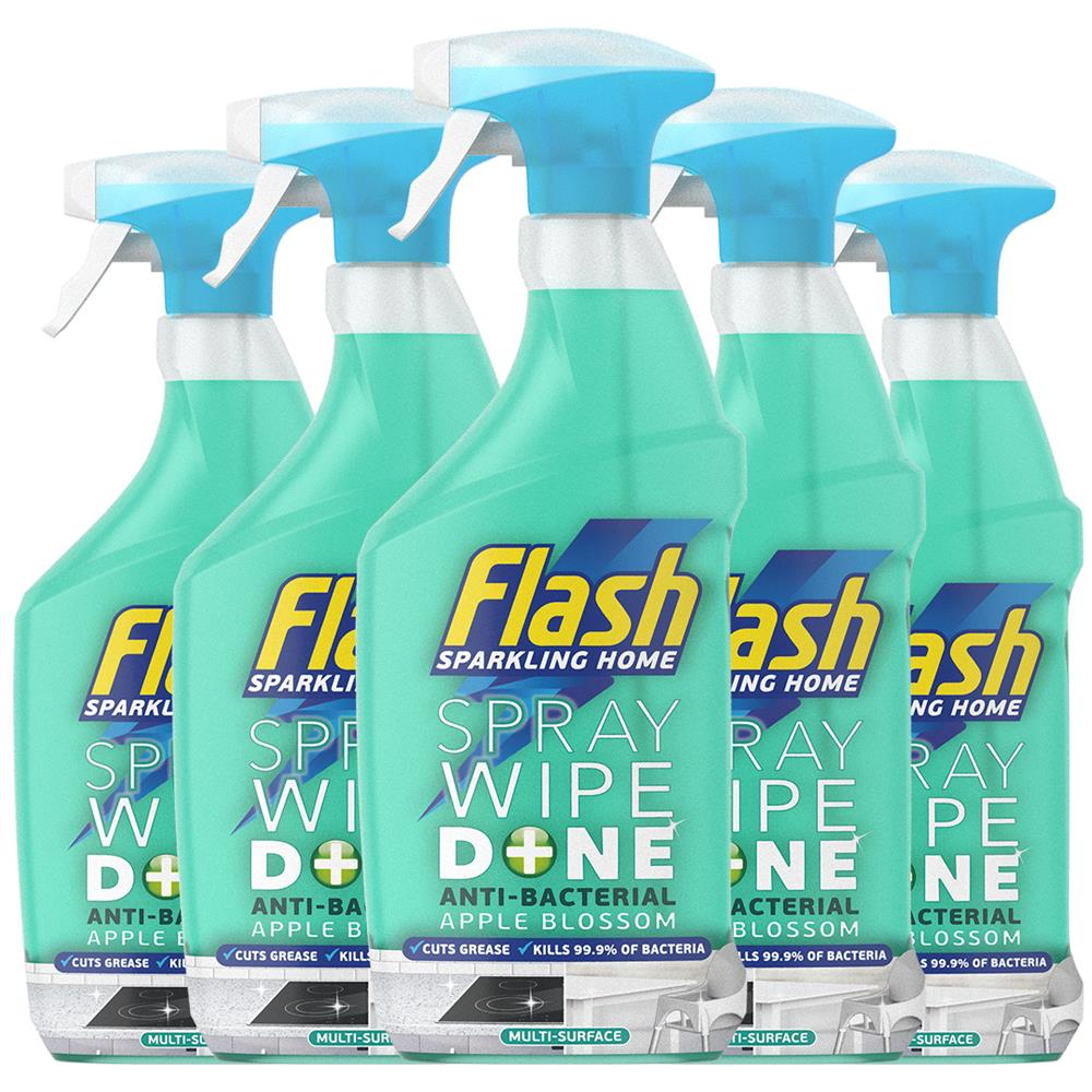 Picture of Flash Antibacterial Spray Wipe Done Multi Purpose Cleaner Apple (Case of 5 x 800ml)
