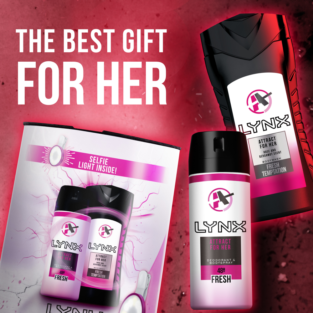 Picture of  Lynx Attract for Her Duo Gift Set With Selfie Light