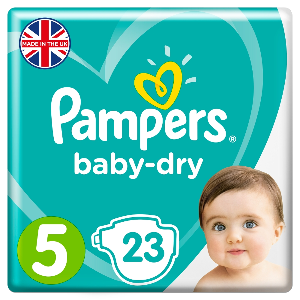 Picture of Pampers Baby-Dry: 92 Nappies (Size 5)