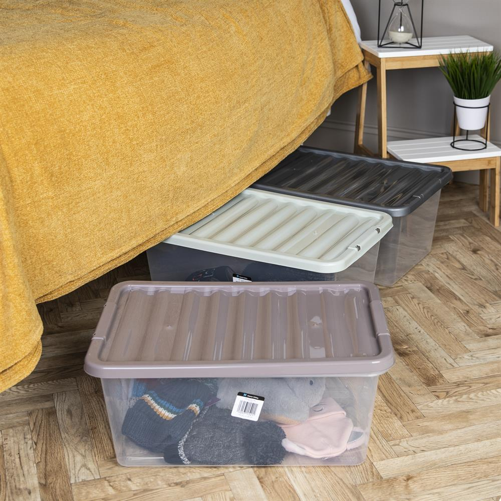 Picture of Home Utility: 6 x 45 Litre Plastic Storage Box & Lid