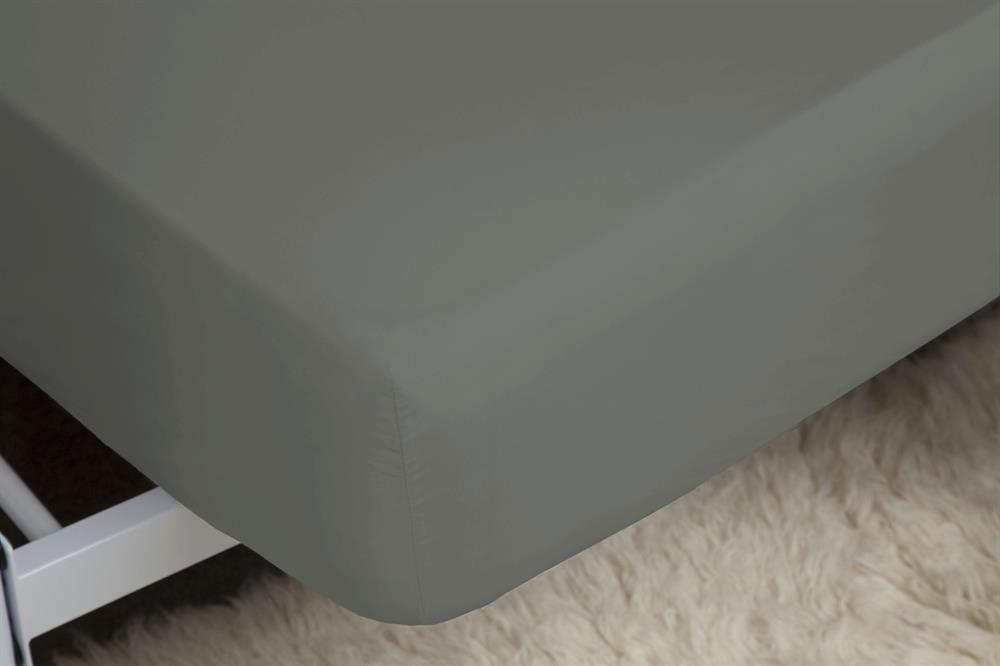 Picture of Belledorm Extra Deep Fitted Sheet: Grey