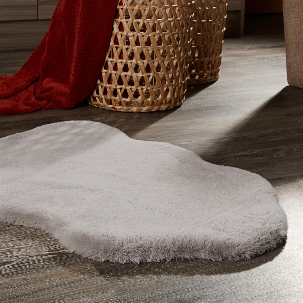 Picture of Faux Rabbit Fur Grey Rug