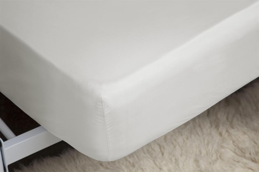 Picture of Belledorm Extra Deep Fitted Sheet: Ivory