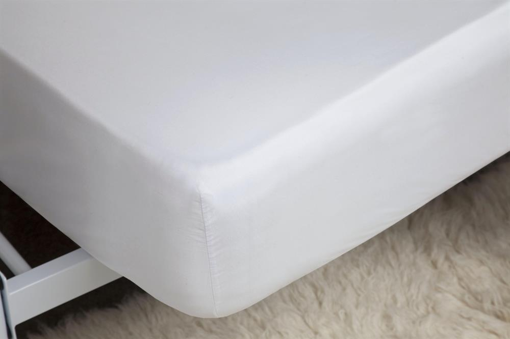 Picture of Belledorm Extra Deep Fitted Sheet: White