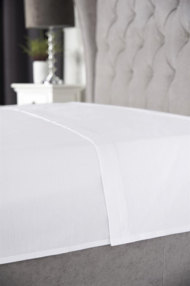 Picture of Belledorm Flat Sheet: White