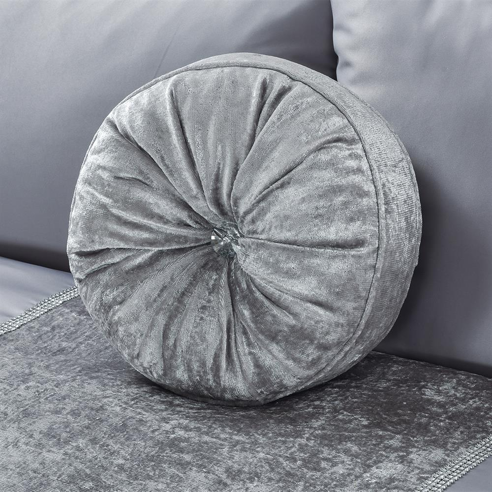 Picture of Home Collections: Velvet Cushion Grey/Silver