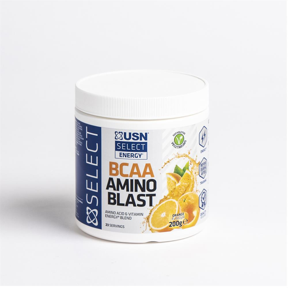 Picture of USN Select Energy BCAA Amino Blast - Orange Flavour 200g