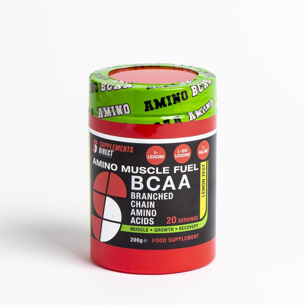 Picture of Supplements Direct Amino Muscle Fuel BCAA 200g - Lemon Zest