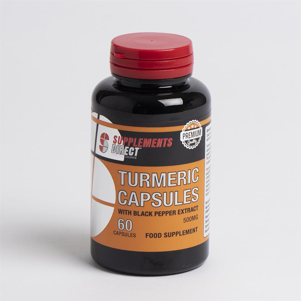 Picture of Supplements Direct Turmeric Capsules With Black Pepper Extract (6 x 60 Caps)