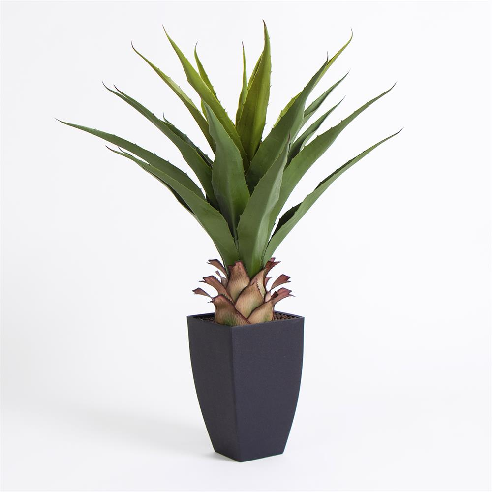 Buy Agave Americana Artificial Plant In Black Pot At Home Bargains