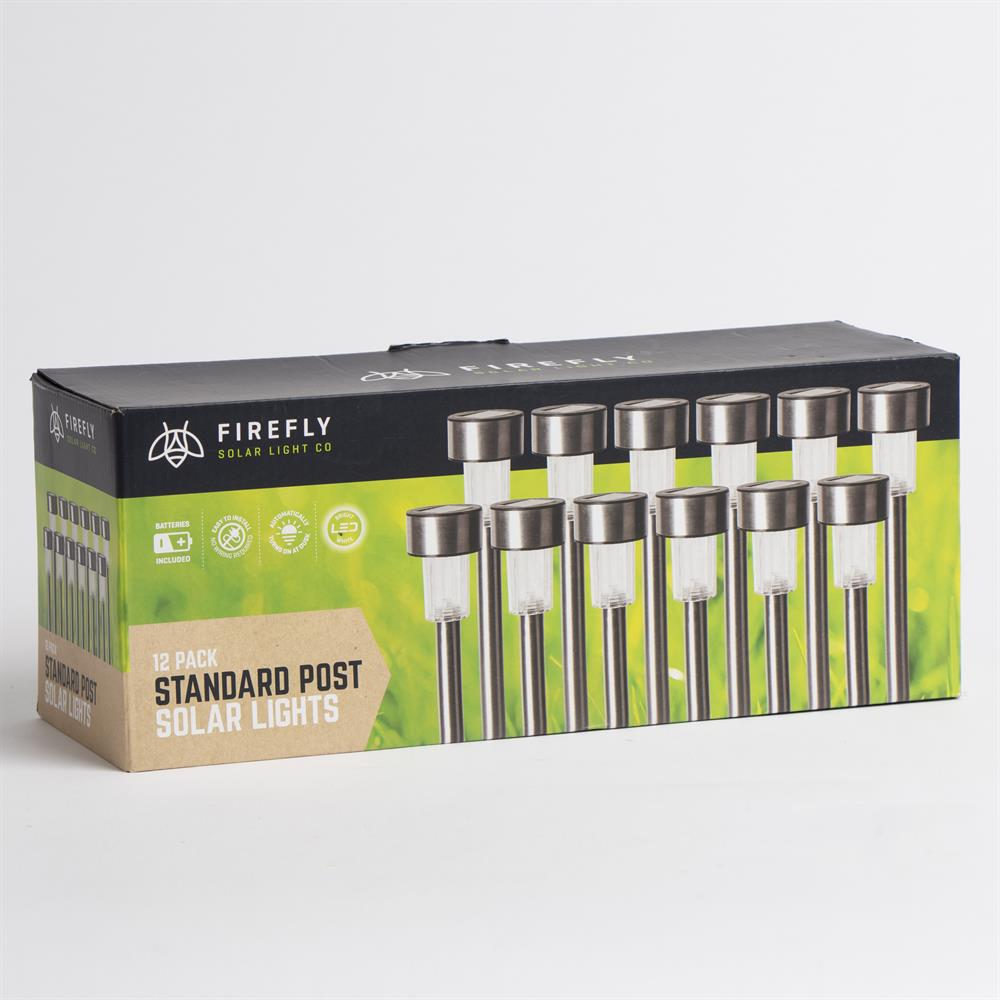 Picture of Firefly: LED Solar Lights Standard Post Stakes 12 Pack
