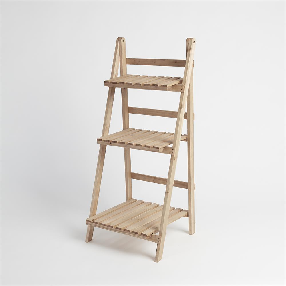 Picture of 3 Tier Wooden Ladder Planter Stand