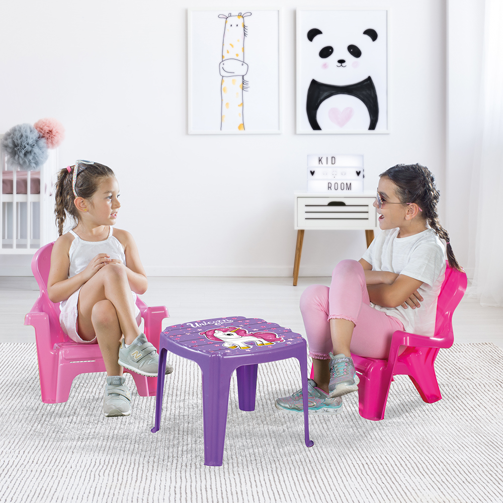 Picture of Dolu Unicorn Table & 2 Chairs Set