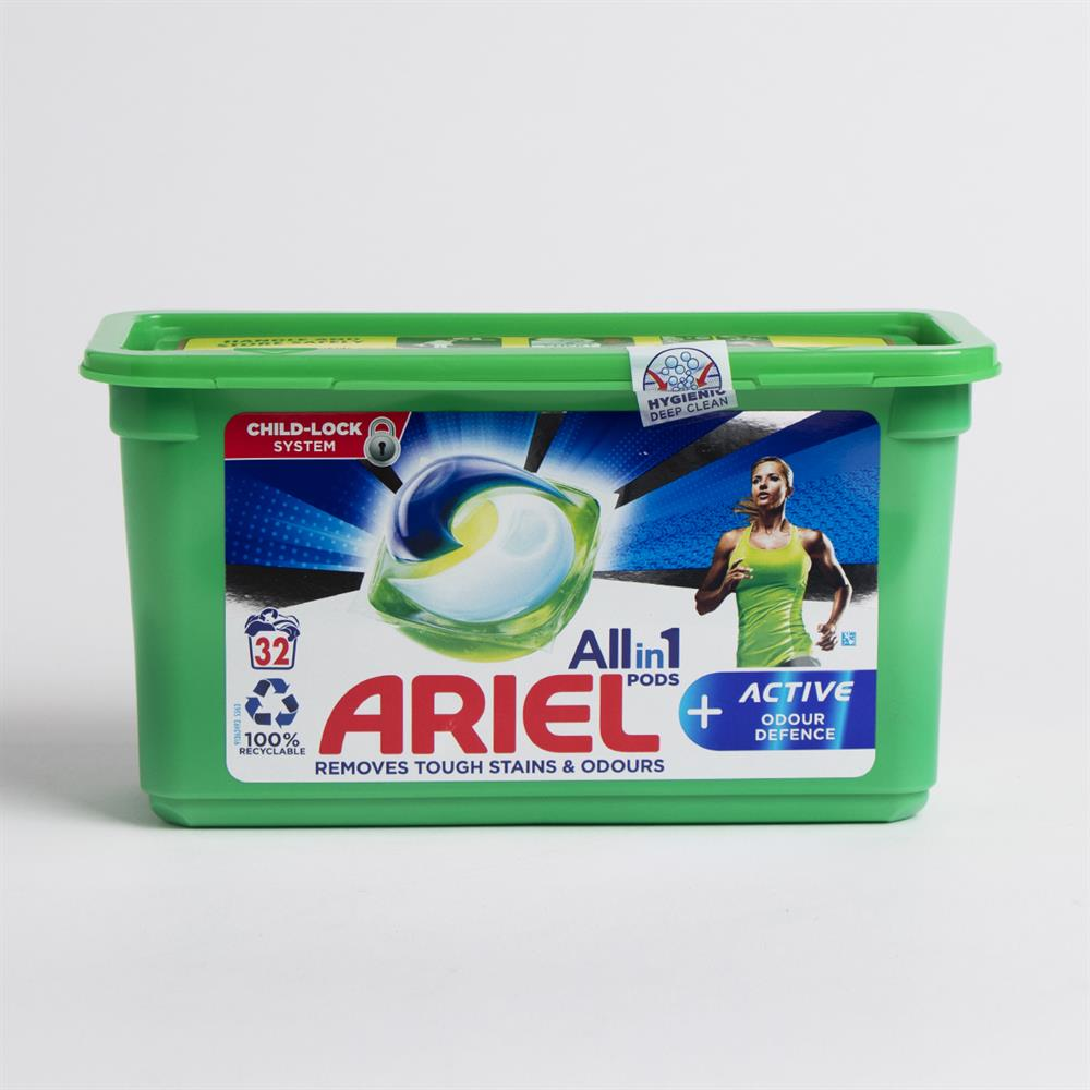 Picture of Ariel Allin1 Pods Washing Liquid Capsules +Active Odour Defence (32 Washes)