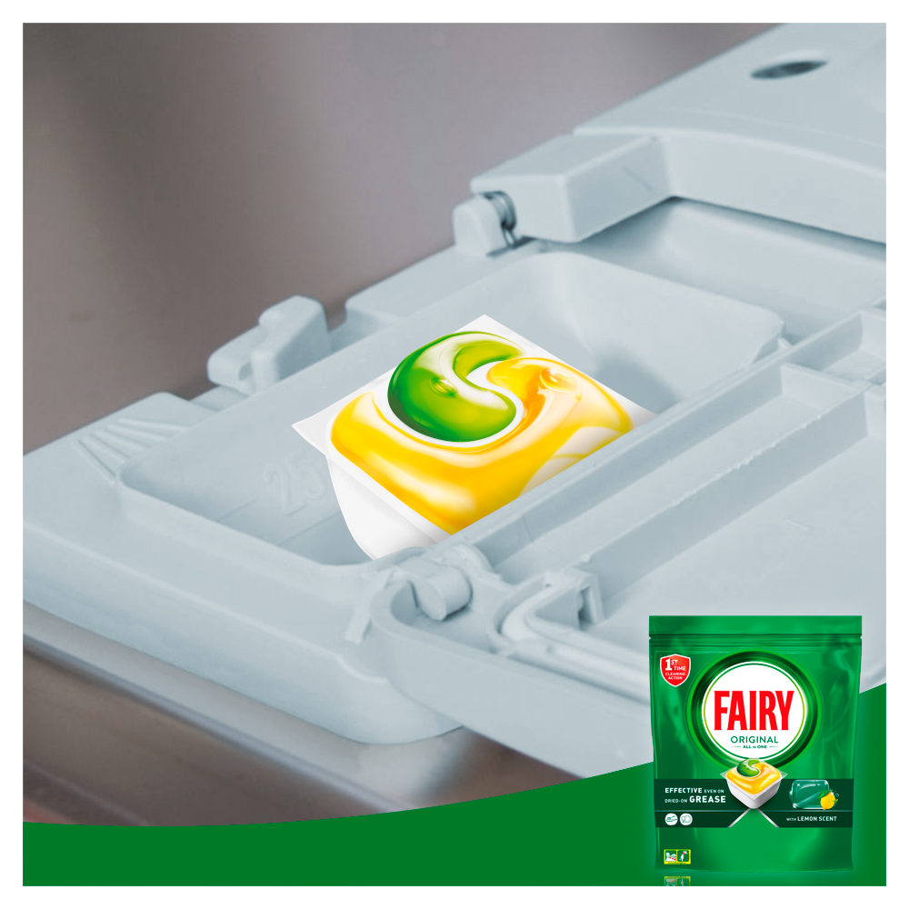 Picture of Fairy All in One Dishwasher Tablets Regular, 78 Tabs