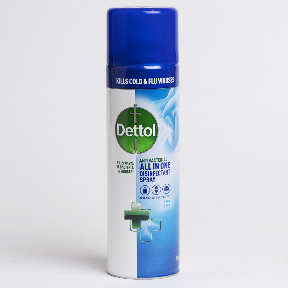 Picture of Dettol All In One Disinfectant Spray (Case of 6 x 500ml)- Crisp Linen
