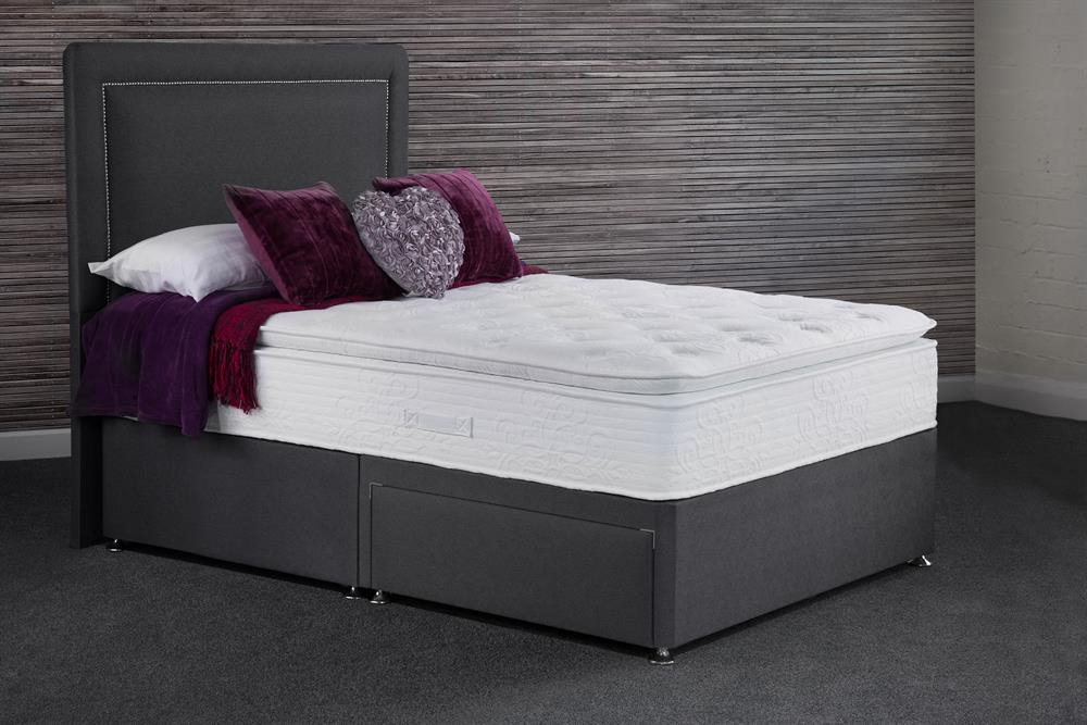 Picture of Sweet Dreams Maddie Wool 1000 Mattress & Black 2 Drawer Divan Base (Delivery Included)