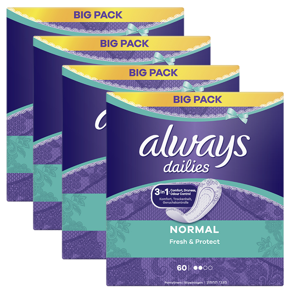 Picture of Always Liners Normal XXL Pack (4 x 60 Liners)