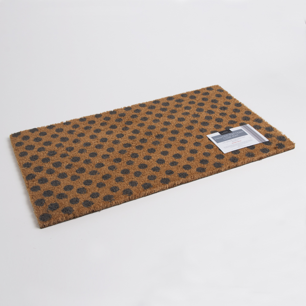 Picture of Home Collections Printed Pattern Coir Mat - Polka Dot