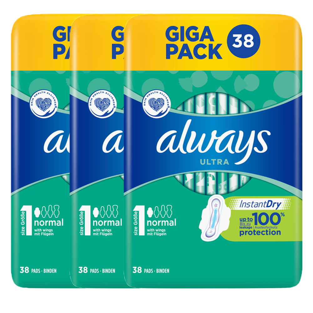 Picture of Always Ultra Normal with Wings  (3 x 38 Pack)