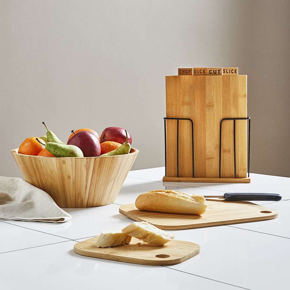 Picture of Home Collections: 4 Piece Wooden Chopping Board Set