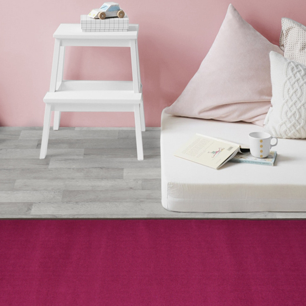 Picture of Maestro Border Plain Pink Rug