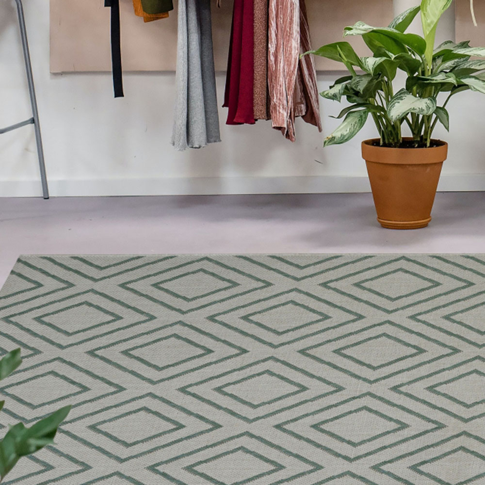 Picture of County Tile Diamond Duckegg Rug