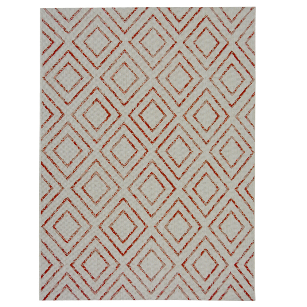 Picture of County Tile Diamond Terracotta Rug 120x160cm