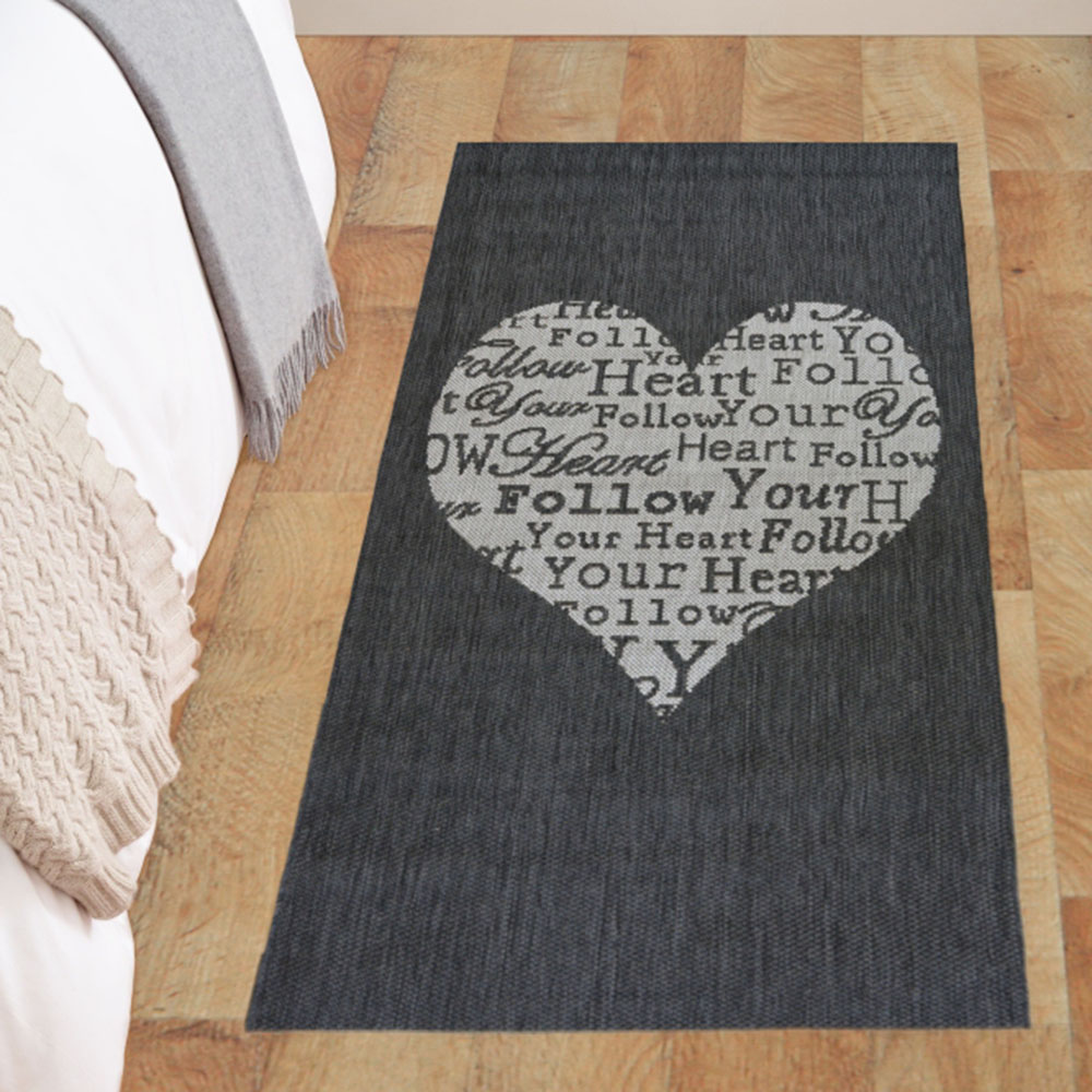 Picture of County Heart Grey Rug