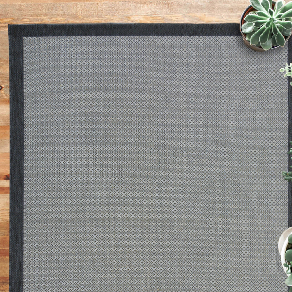 Picture of County Border Grey Rug