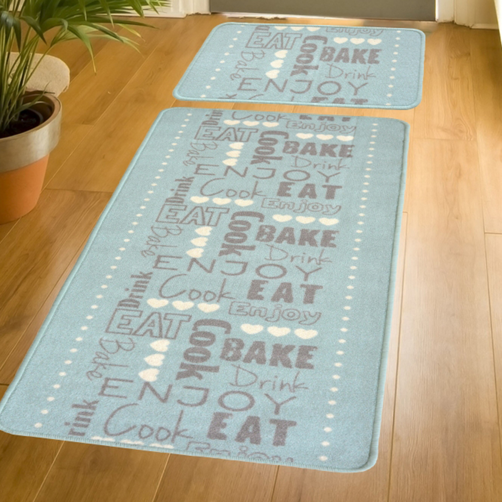 Picture of Printed Duckegg Runner & Mat Pack