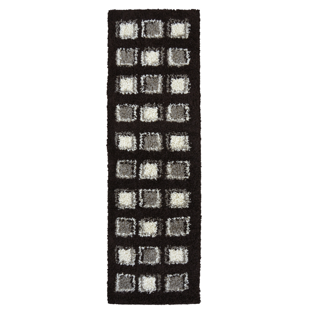 Picture of Verve Shaggy Cube Black Rug