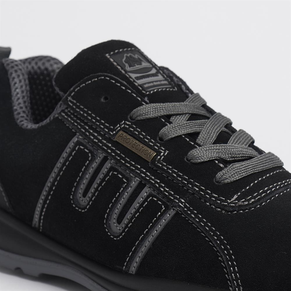 Picture of Groundwork Steel Toe Cap Safety Trainers Black