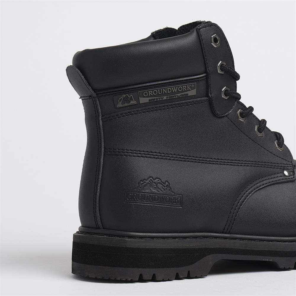 Picture of Groundwork Steel Toe Cap Safety Boots Black