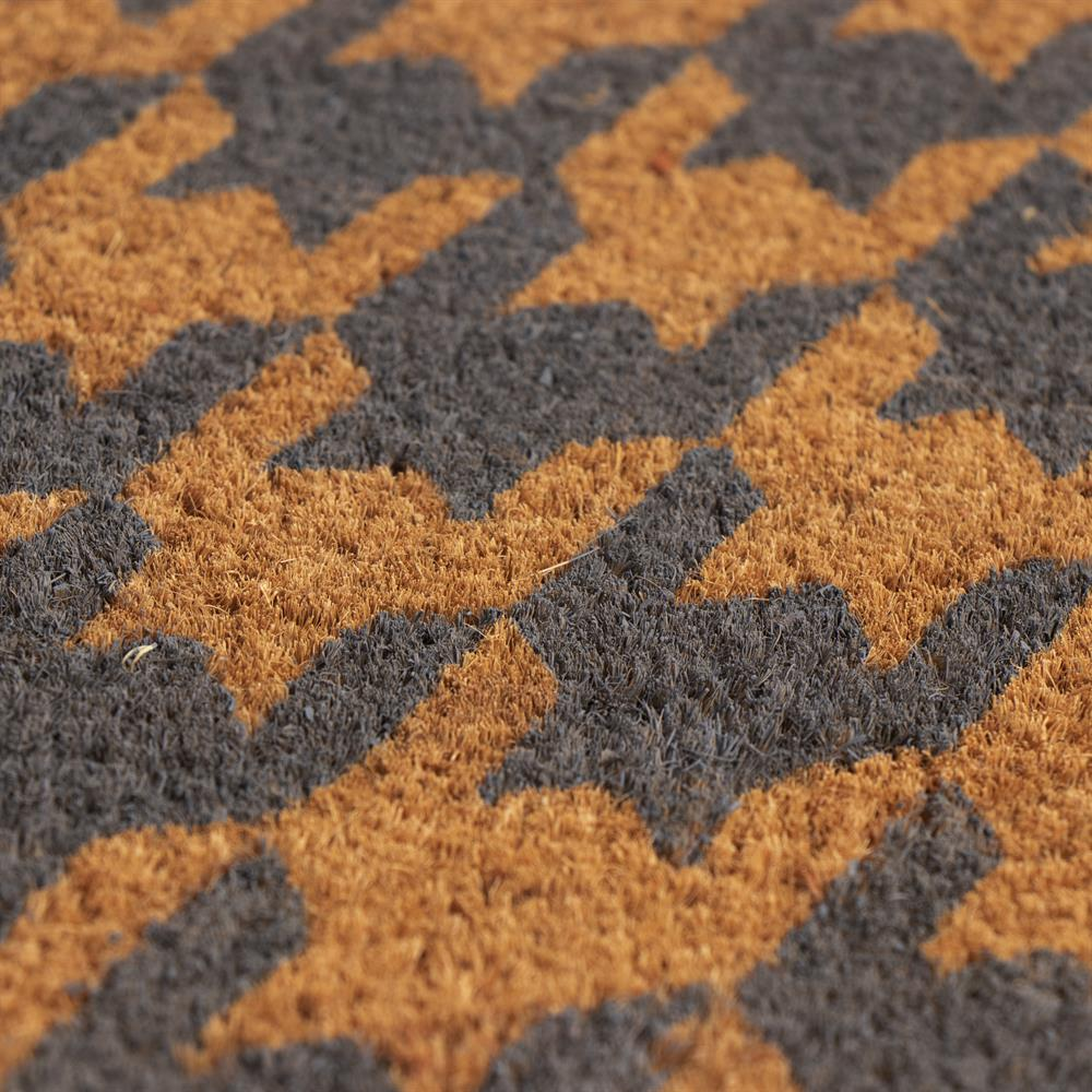 Picture of Home Collections Printed Pattern Coir Mat - Jagged Print