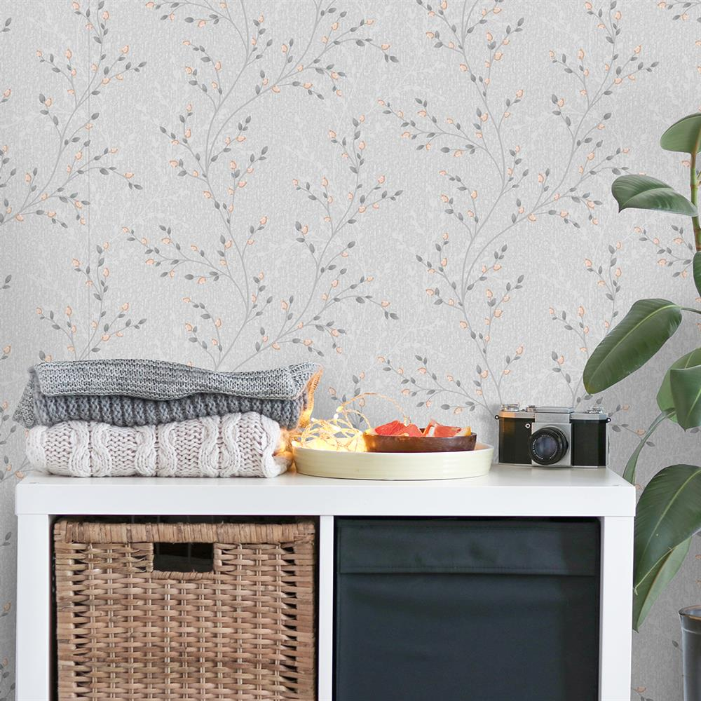 Picture of Opus Amelio Grey/Rose Gold Wallpaper
