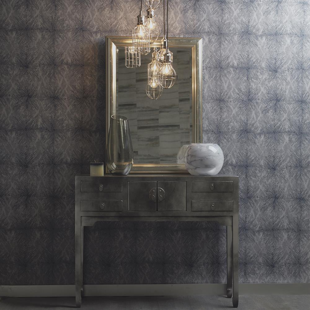 Picture of Moonstone Navy Wallpaper