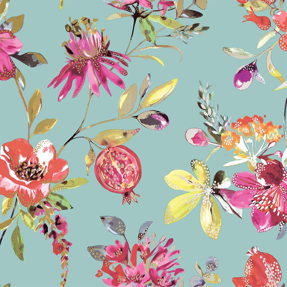 Picture of Melgrano Soft Teal Wallpaper