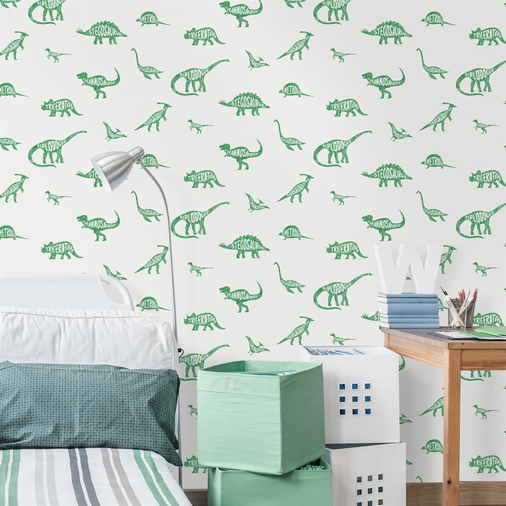 Picture of Dino Dictionary Green Wallpaper